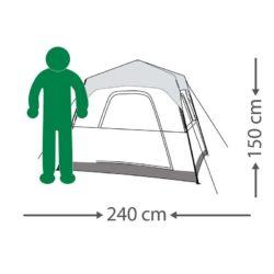 מידות אוהל רפיד קאבין לארבעה אנשים
