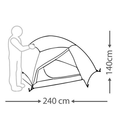 מידות אוהל Starlight לארבעה אנשים