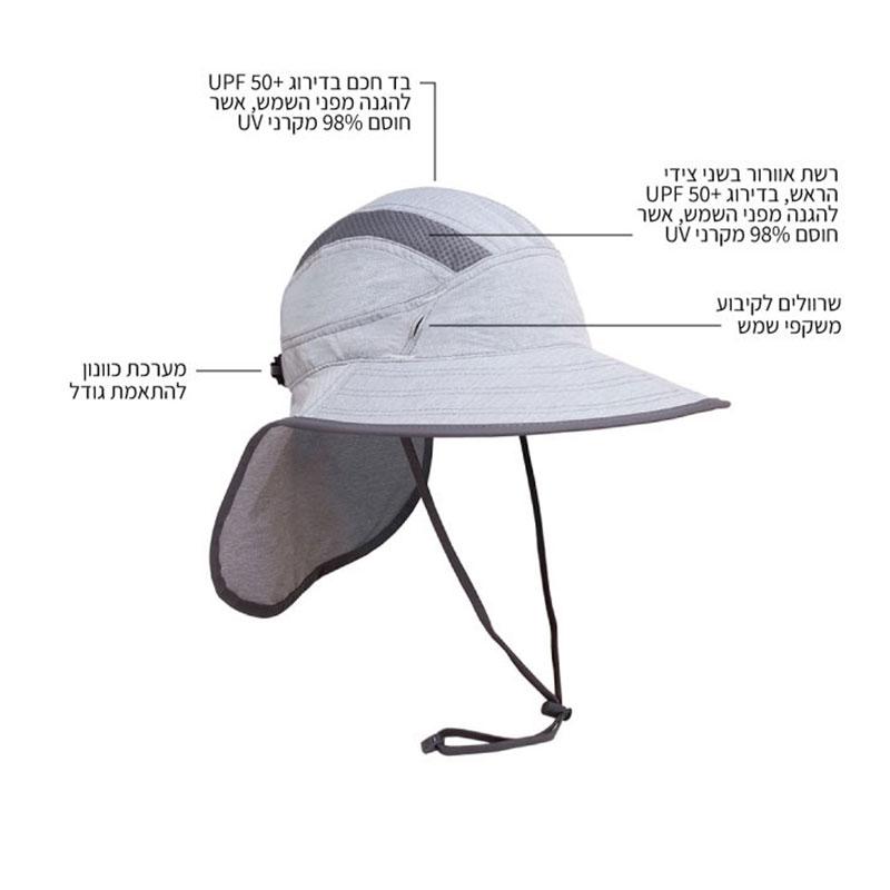כובע שמש רחב שוליים Ultra Advanture